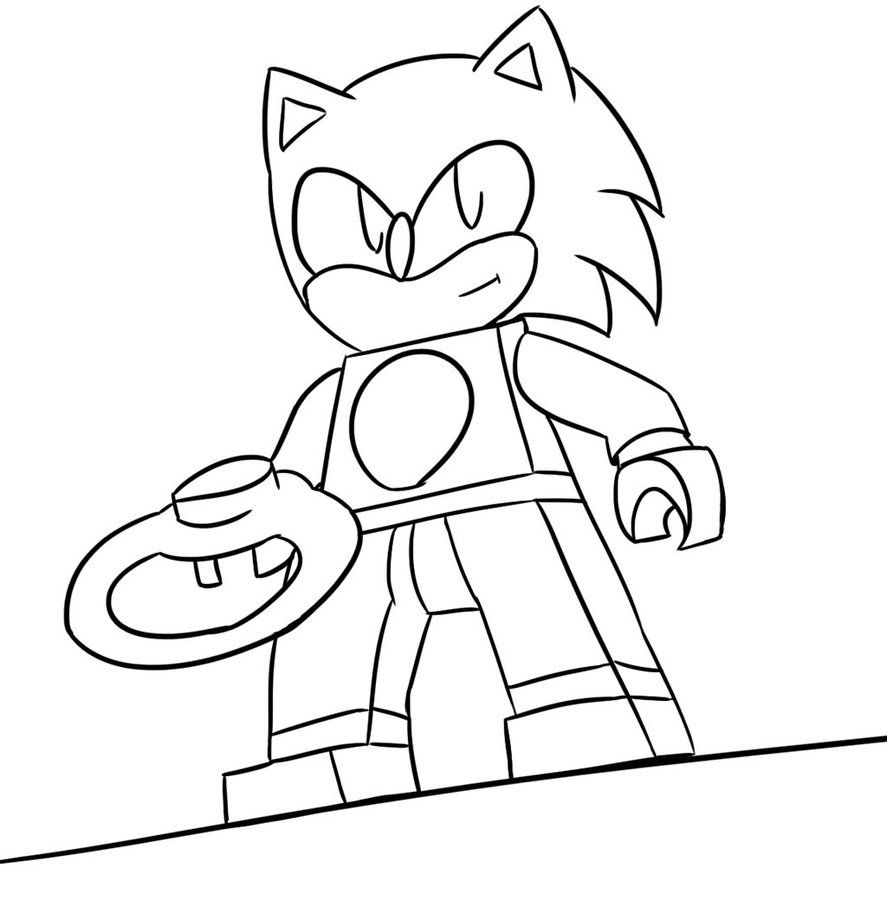 Sonic Coloring Cards Photos