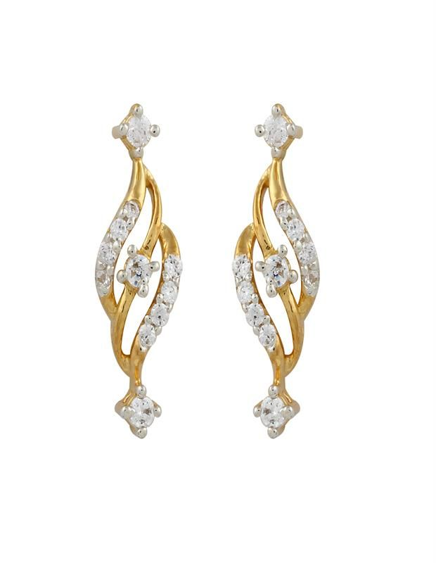 Stylist Diamond Earring Diamonds4you Crafted With 22 Diamonds On Gold Earrings Jewellery Online In Best Price