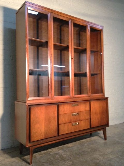 Mid-Century Danish Modern China Cabinet / Hutch / Bookcase - Nice ...