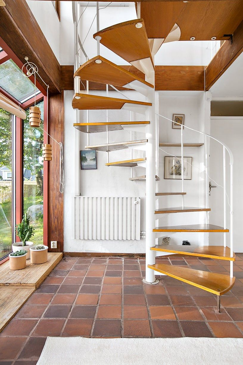 Gorgeous midcentury house for sale in Sweden | Spiral staircases ...