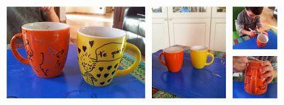 Un regalo fácil: Una taza pintada