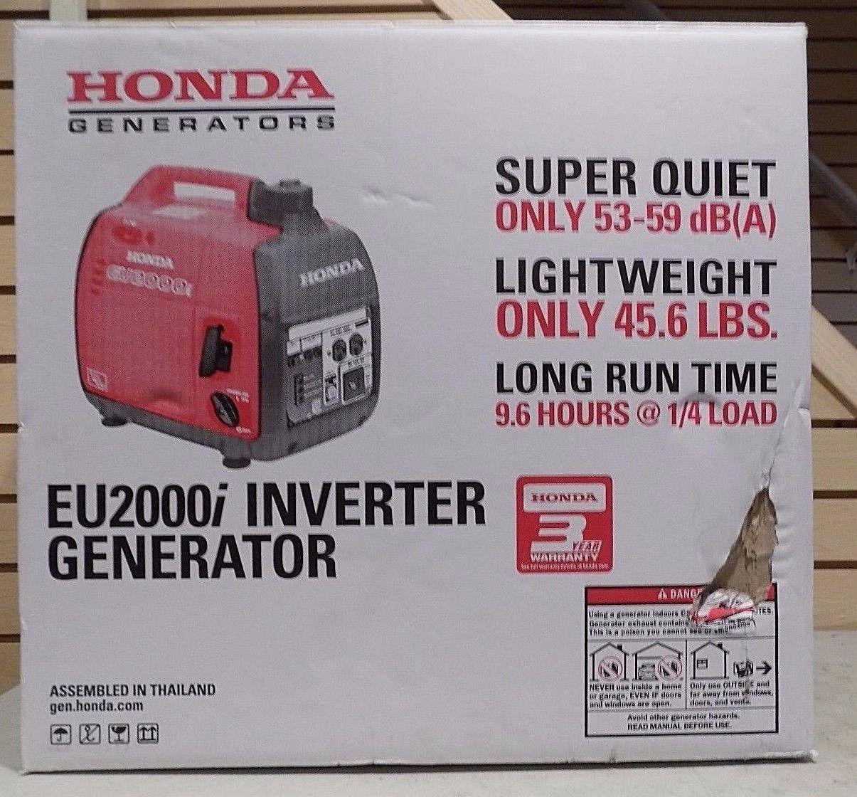 Honda EU2000i 2000 Watt 3 5 HP Inverter Generator -- NEW