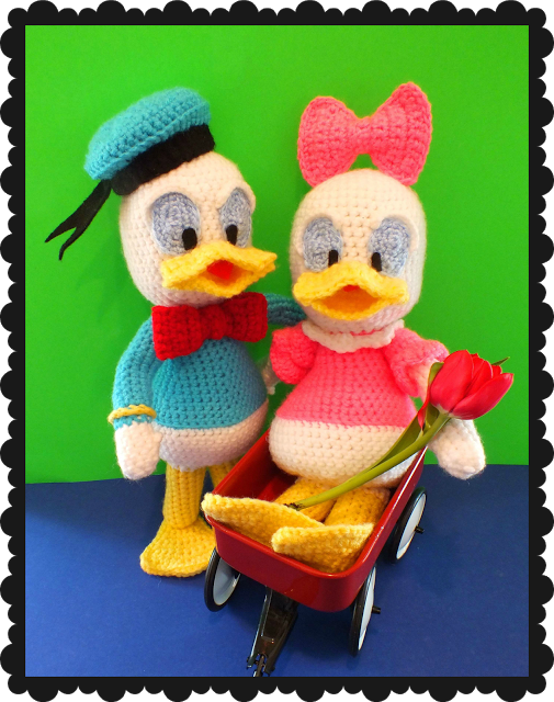 Free Baby Donald & Daisy Inspired Doll Pattern©