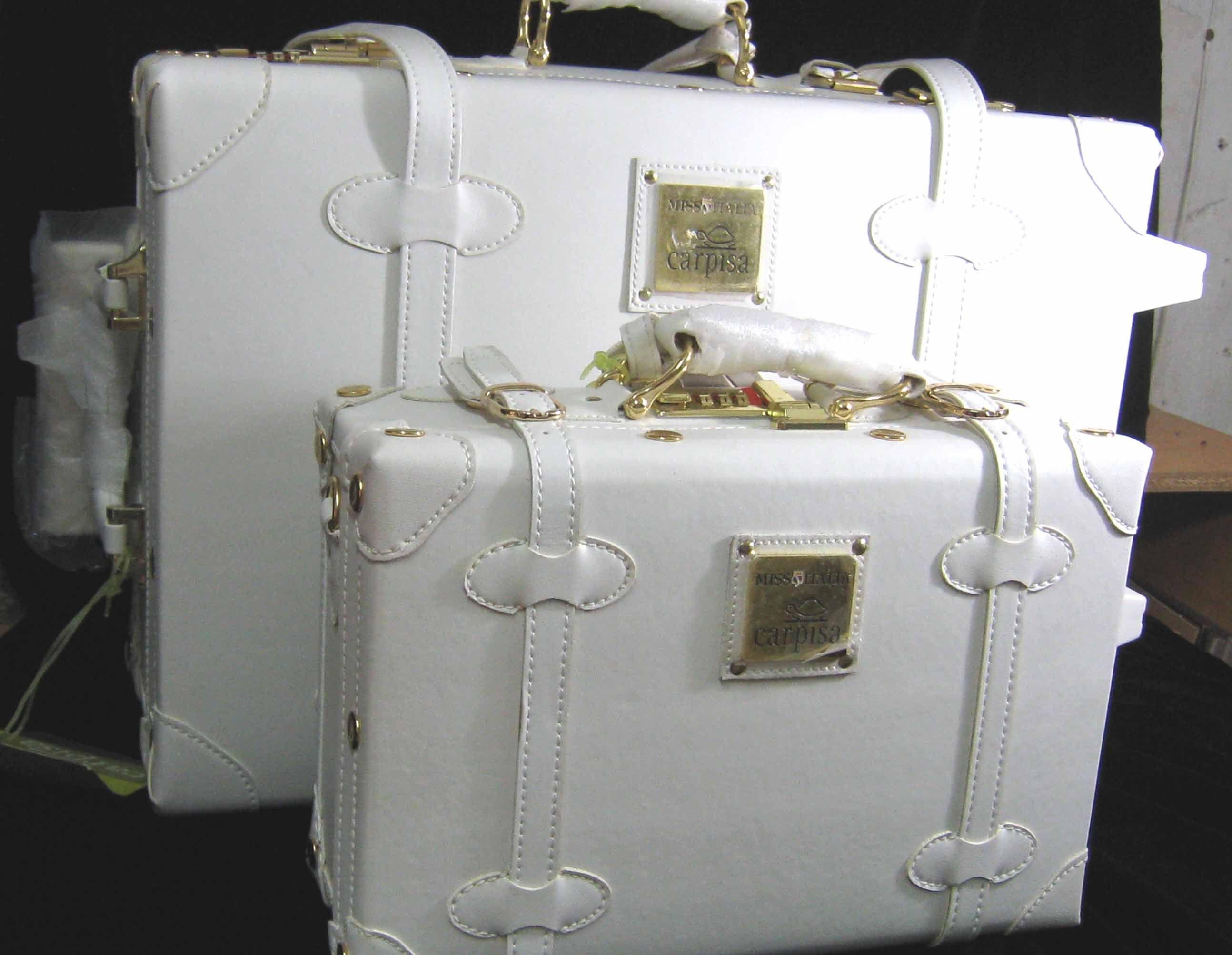 White Trolley Case Set