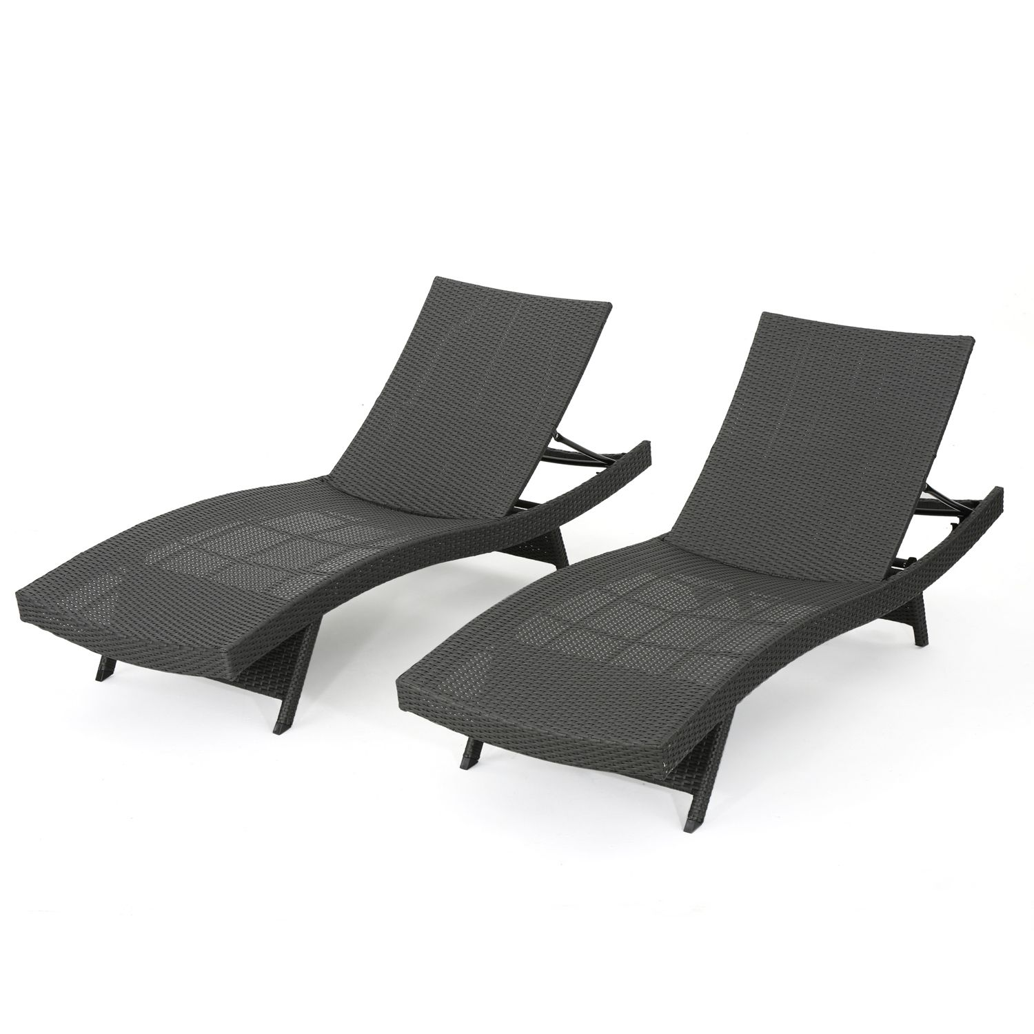 Fabulous Carlsbad Gray Wicker Chaise Lounge Chair Set Of 2 Products Pabps2019 Chair Design Images Pabps2019Com