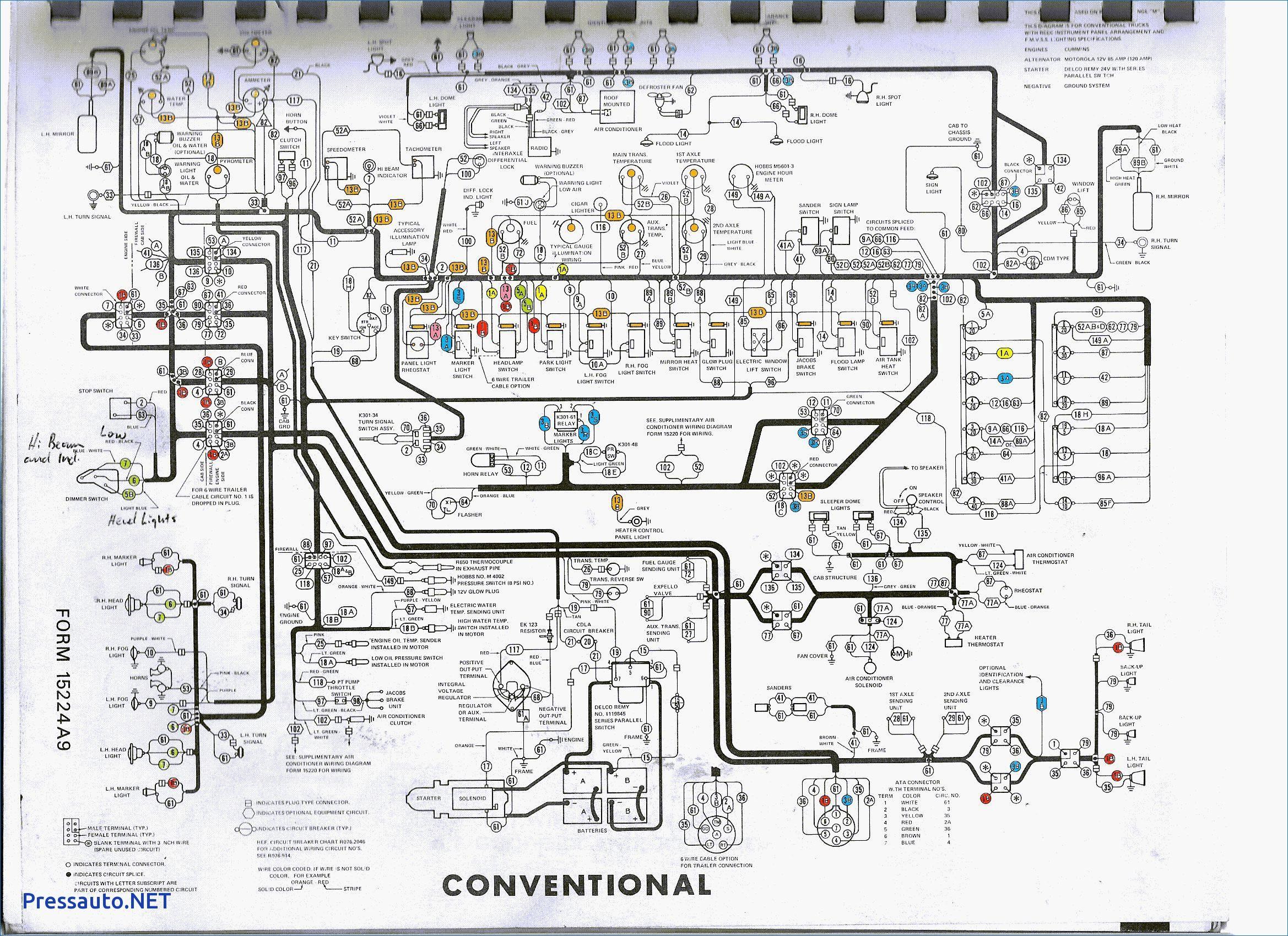 freightliner fld120 wiring diagram circuit diagram schematic freightliner starter diagram 1999 freightliner wiring diagram [ 2338 x 1700 Pixel ]
