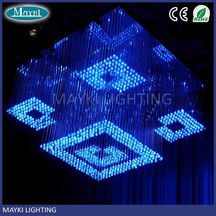 Customized Colors Changing Fiber Optic Chandelier Pendant Light For Hotel And Lobby View Mayki Details From Guangzhou