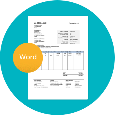 Modele Gratuit De Facture Word A Telecharger Avec Instructions Le Fichier Contient Une Facture Vierge E Modele Facture Modele De Facture Gratuit Exemple Devis