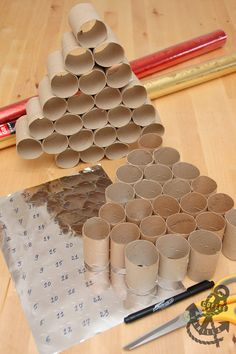 DIY Christmas Calendar Made from Upcycled Kitchen Roll Tubes » Coffee & Vanilla