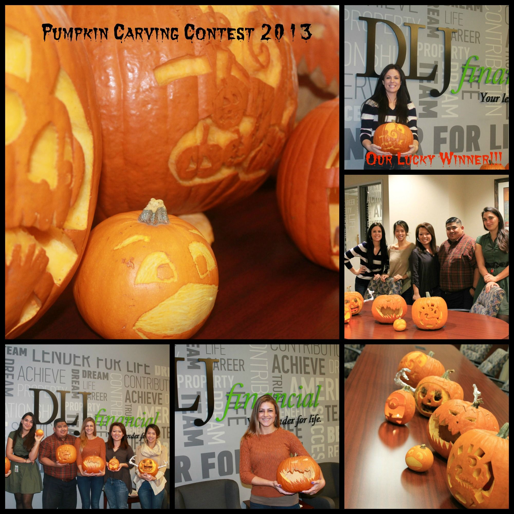 DLJ\'s Pumpkin Carving Contest 2013! Emily was our winner with her ...