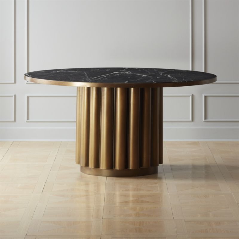 Cypher Black Marble Dining Table Reviews Cb2 Dining Table