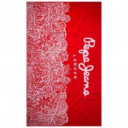 Strandtuch aus Baumwolle mit Blumenprint kaufen |Pepe Jeans London