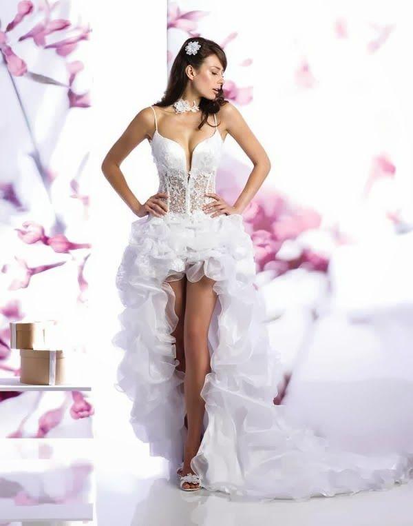 555afee04 20 increíbles vestidos de novia cortos