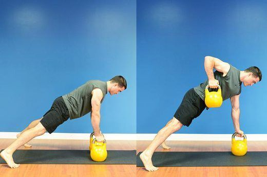 9 Renegade Rows Being Fit And Staying Healthy Kettlebell Ab Workout Kettlebell Arm Workout Kettlebell Training