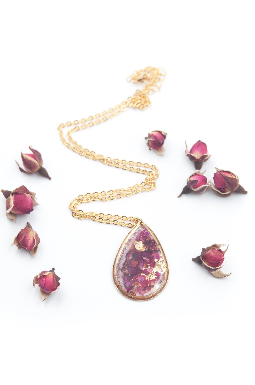 Collana Ciondolo Fiore Rosa Rose Pendente Catena color Acciaio Nichel Free DONNA