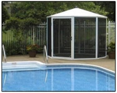 Spa enclosure kits outdoor hot tub rooms diy spa for Diy hot tub gazebo