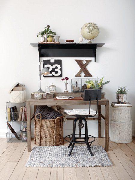 Arbeitsplatz im Shabby Chick Diy  vintage  deko  shabby - wohnzimmer deko diy