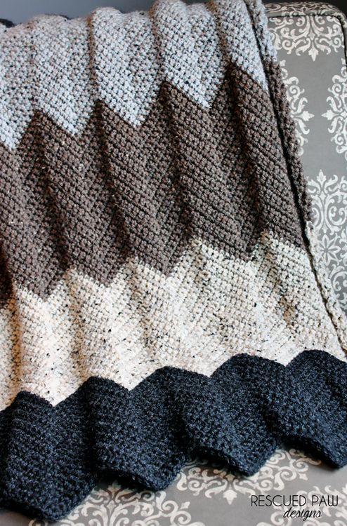 Neutral Chevron Crochet Blanket Pattern Chevron Crochet Blankets