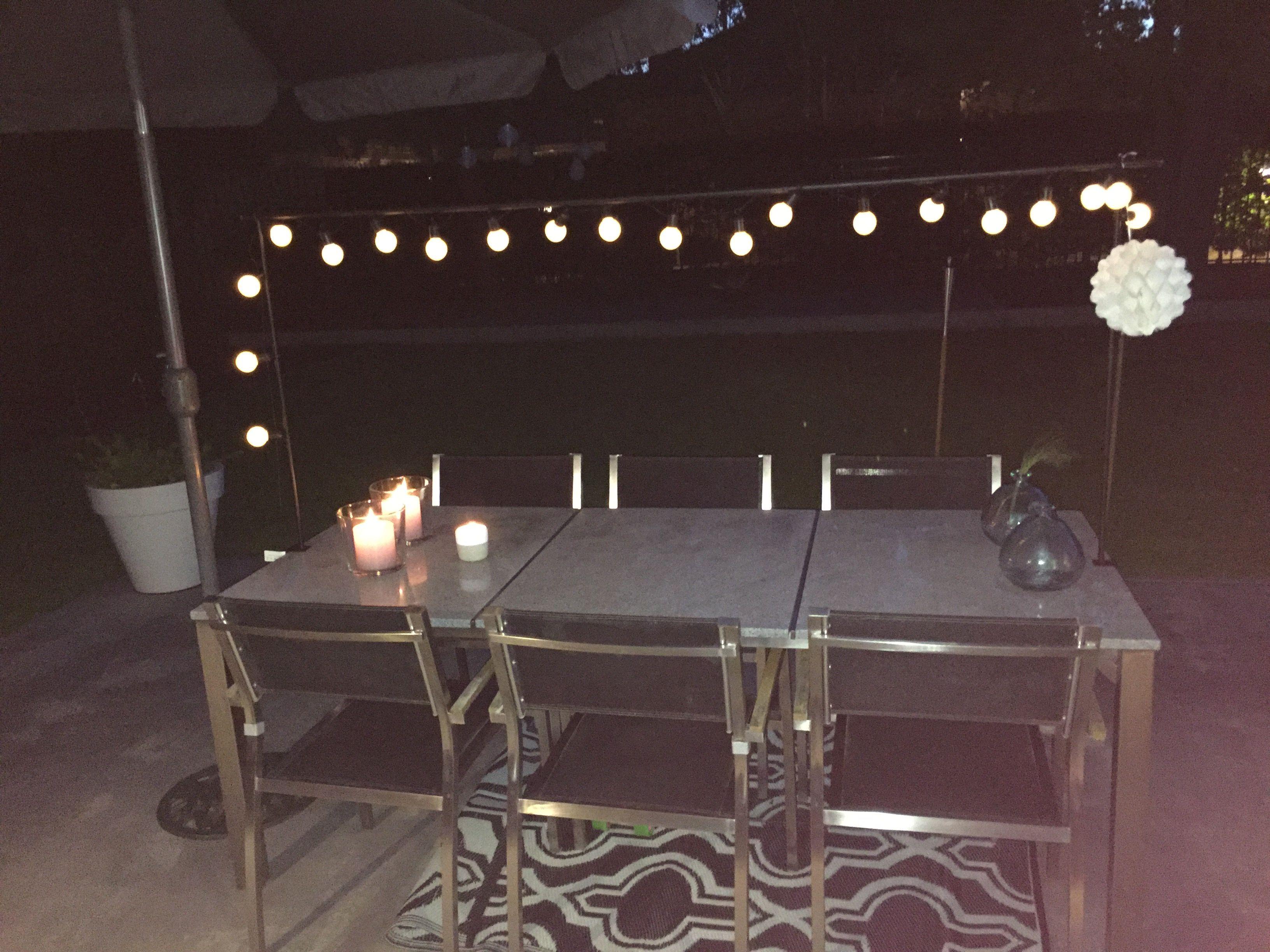 Tafelklem buitenkleed buiten outdoor lamp slinger concrete
