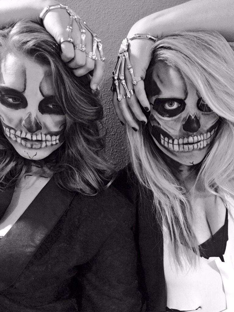 The skeletwins #halloween #makeup #skull #skeleton