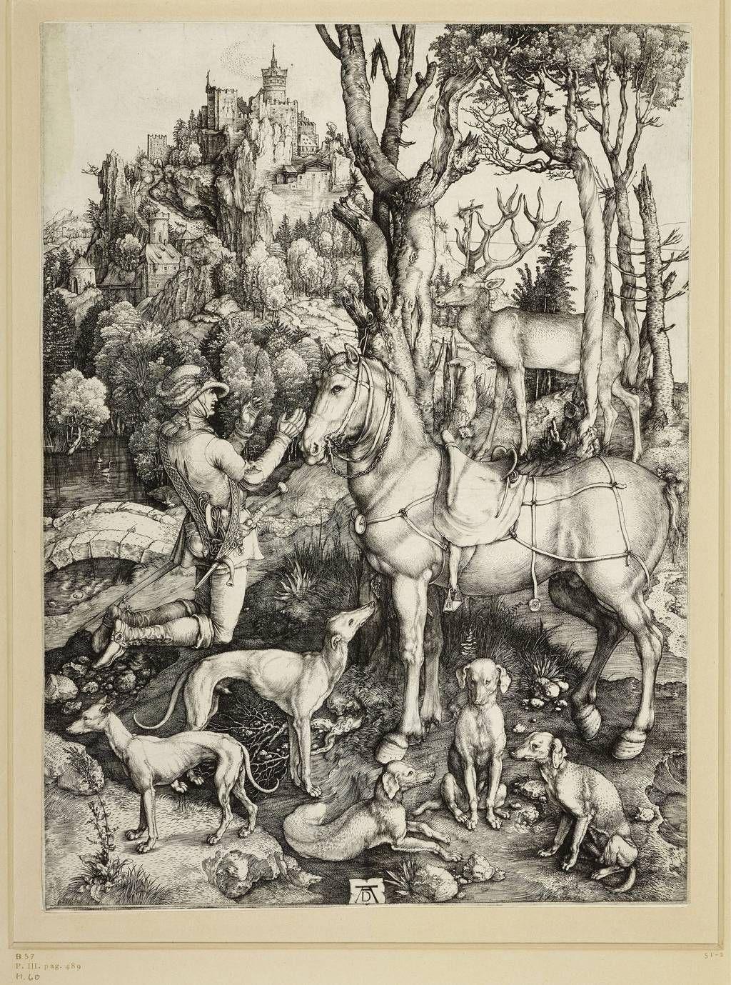 Albrecht Dürer: Der Heilige Eustachius, um 1500. © Staatliche Museen zu Berlin, Kupferstichkabinett / Foto: Volker-H. Schneider