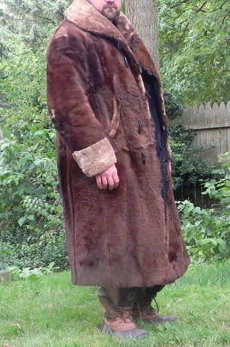 Bear Coat Bear Skin Fur Coat Vintage Mens Xxl Great For