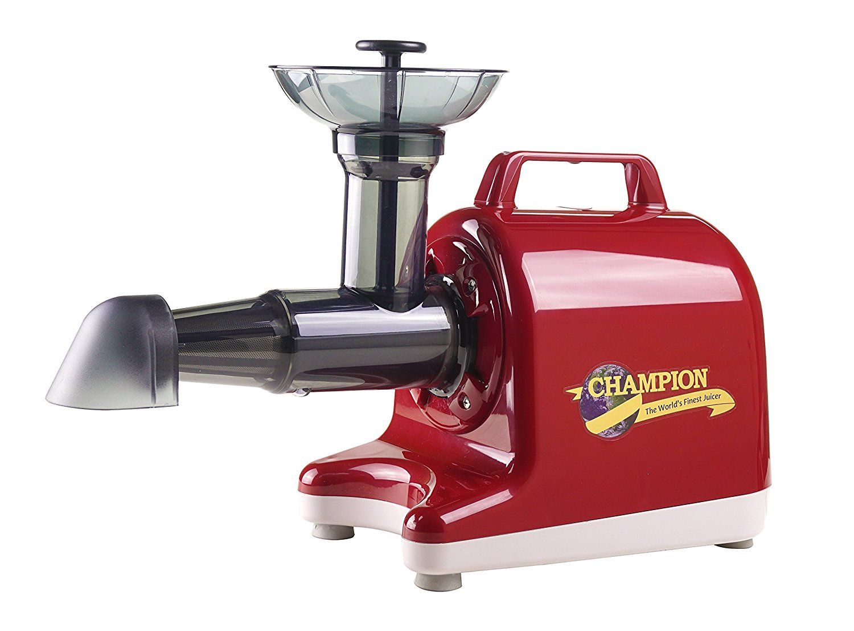 Champion household juicer 4000 masticating juicer red