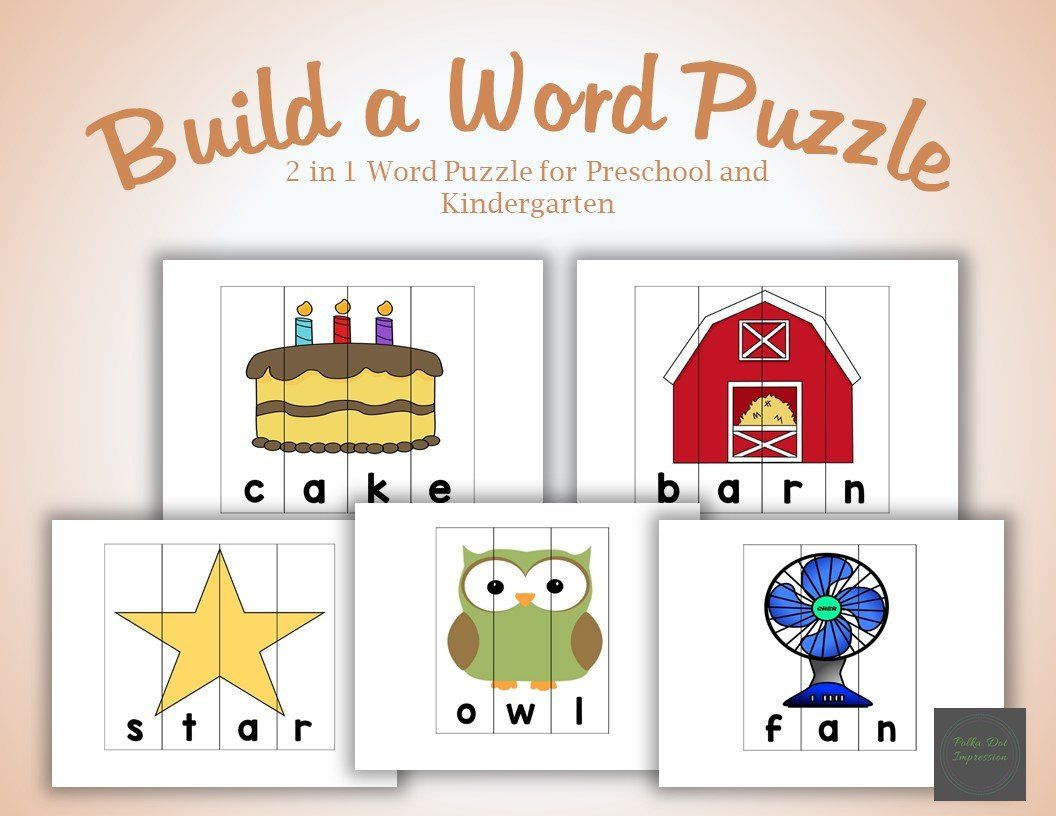 Build My Word 2 In 1 Puzzle For Preschool And Kindergarten