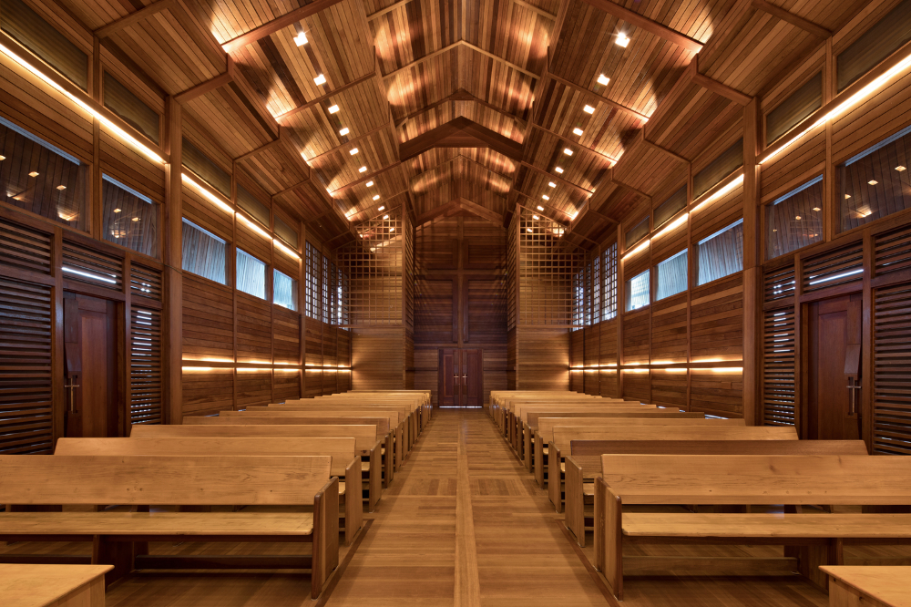 Recycled Wood Church in Indonesia Media