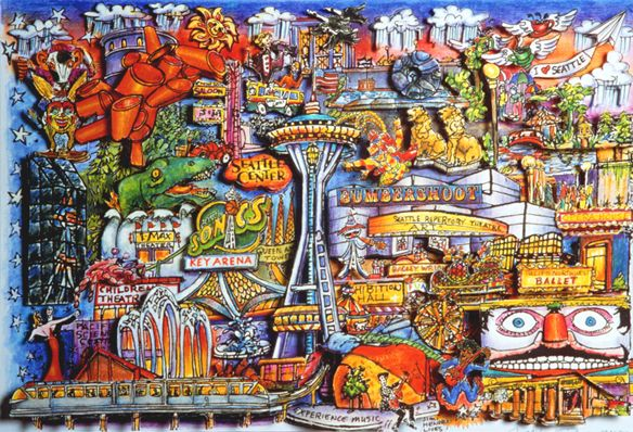 Seattle After Seattle and Watercolor