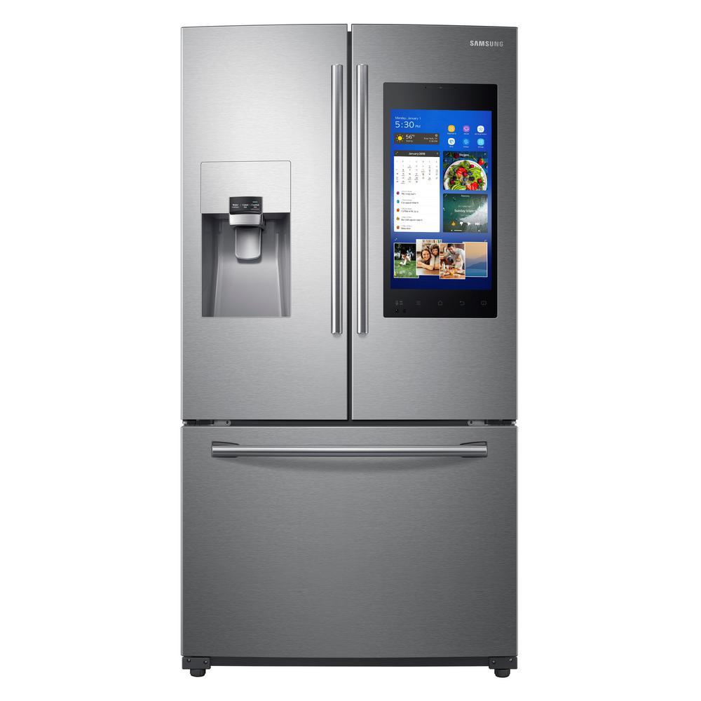 Samsung 24 6 Cu Ft Family Hub French Door Smart Refrigerator In
