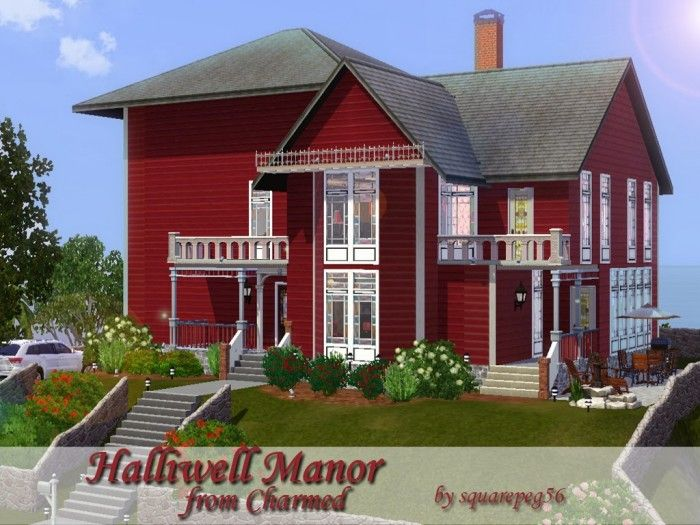 halliwell manor from charmedsquarepeg56 - sims 3 downloads cc