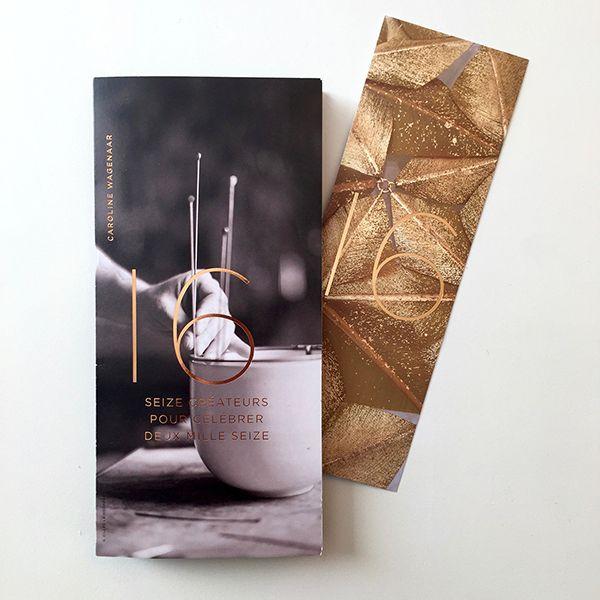 Seize créateurs pour deux mille seize. Greetings card by La Manufacture