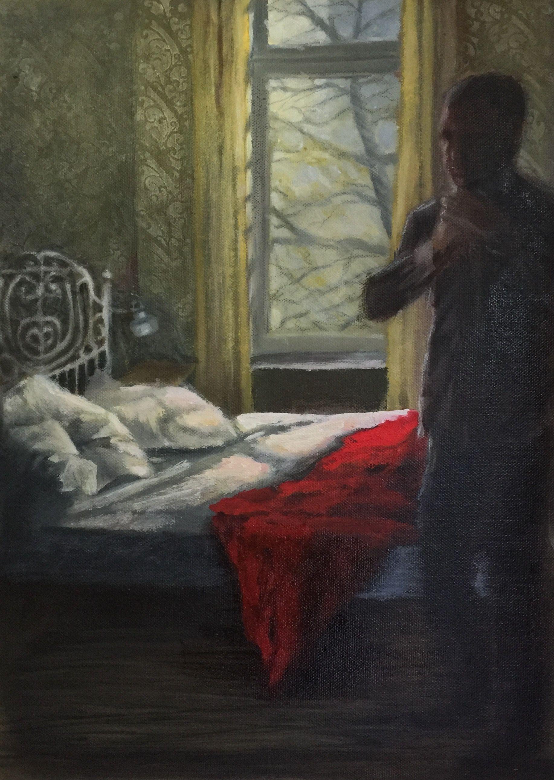 Francisca Louw - Berlin morning.  Oil on canvas 2015