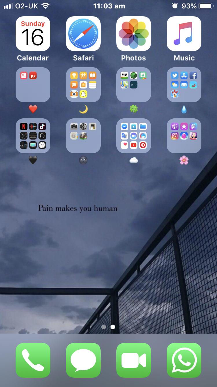 Cute layout ️🎀🍀🌙🖤💧 iphone layout cute rainbow