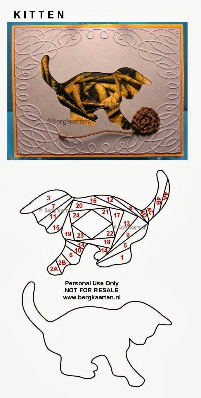 Iris Folding: Kitten