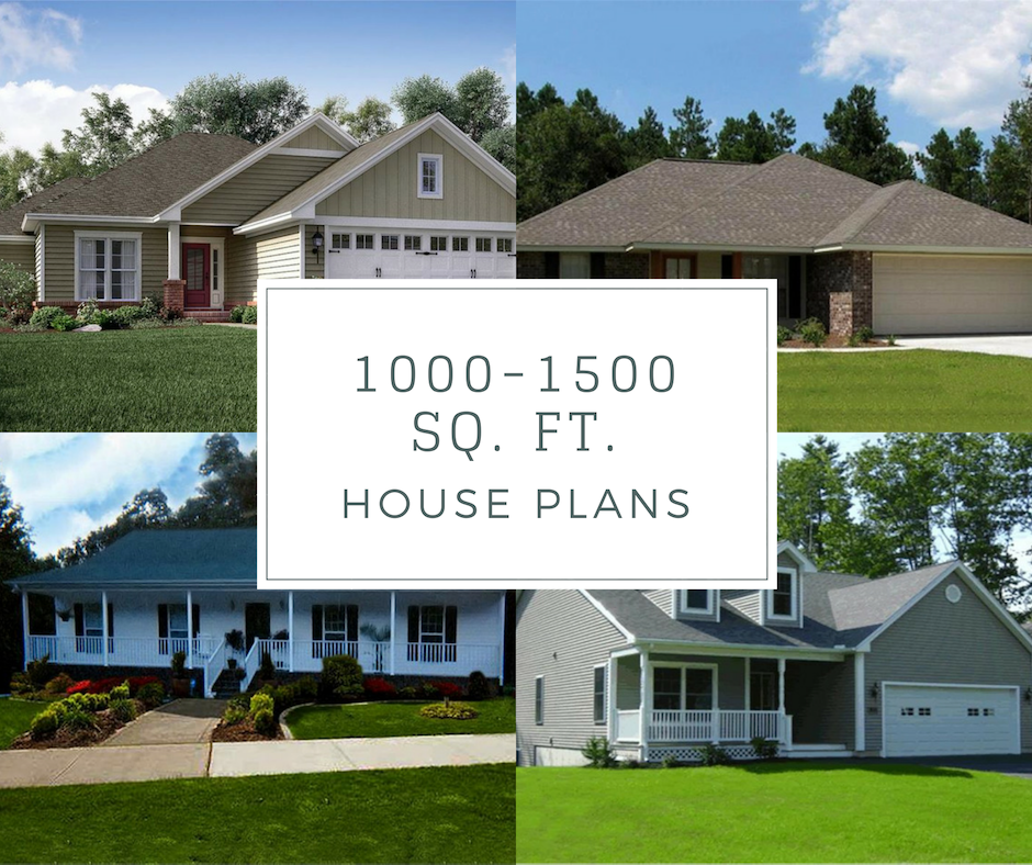These 1000 To 1500 Square Foot Home Plans Are Economical And Cost Effective And Come In A Variety Of House Plans Small House Plans Traditional House Plans