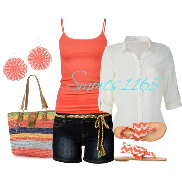 Time for the Beach by smores1165 on Polyvore featuring Full Tilt, Sublevel, CL by Laundry, Sun N' Sand and Liz Law
