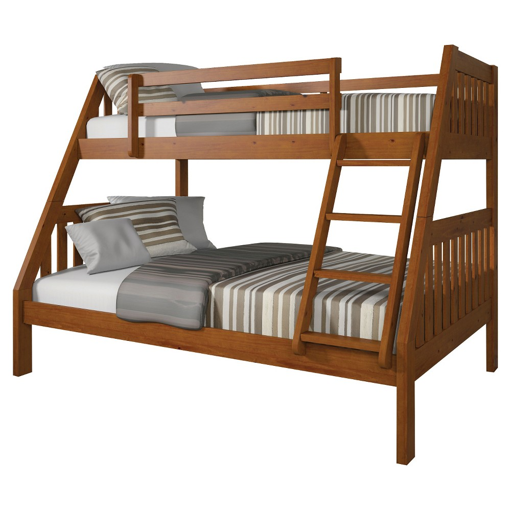 Loft bed plans full size  Ryo Kids Bunk Bed  Oak BrownTwinFull  Acme  Products