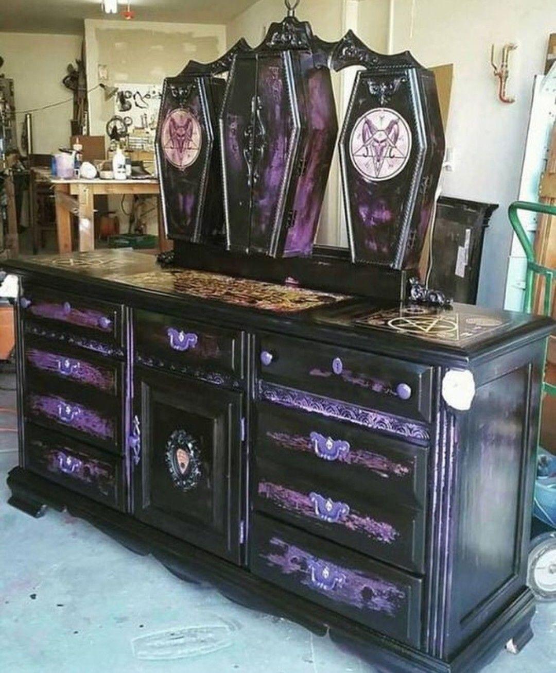 Satan's dresser Goth home decor, Gothic decor, Gothic