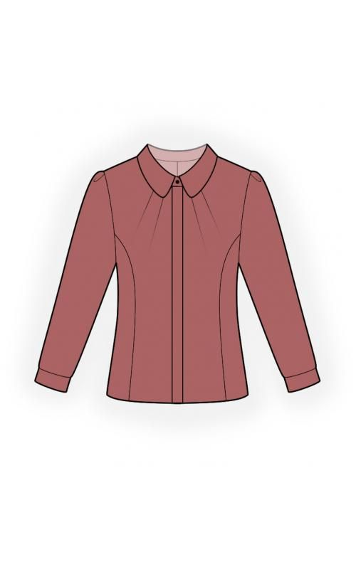 Blouse With Hidden Button Panel - Sewing Pattern #4566. Made-to ...