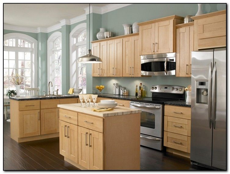 employing light color theme in kitchen cabinets design home and kitchen layout maple on kitchen remodel light wood cabinets id=91774