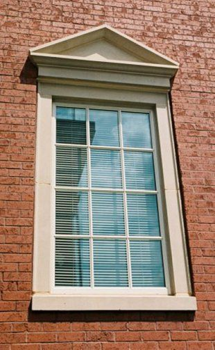 Exterior Window Trim Brick meltonstone window features | pediments | pinterest | window, cast
