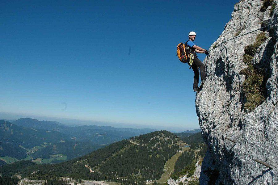 Franz Josef Klettersteig : Ezen a túrán egy igazi kihívás célunk franz josef klettersteig