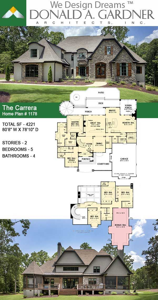 Take a quick look at The Carrera house plan 1178!  #european #twostoryhouse #twostoryhome #wedesigndreams #dongardnerarchitects #architecture #architect #houseplan #homeplan #dreamhouse #dreamhome #floorplans #newhome #newhouse