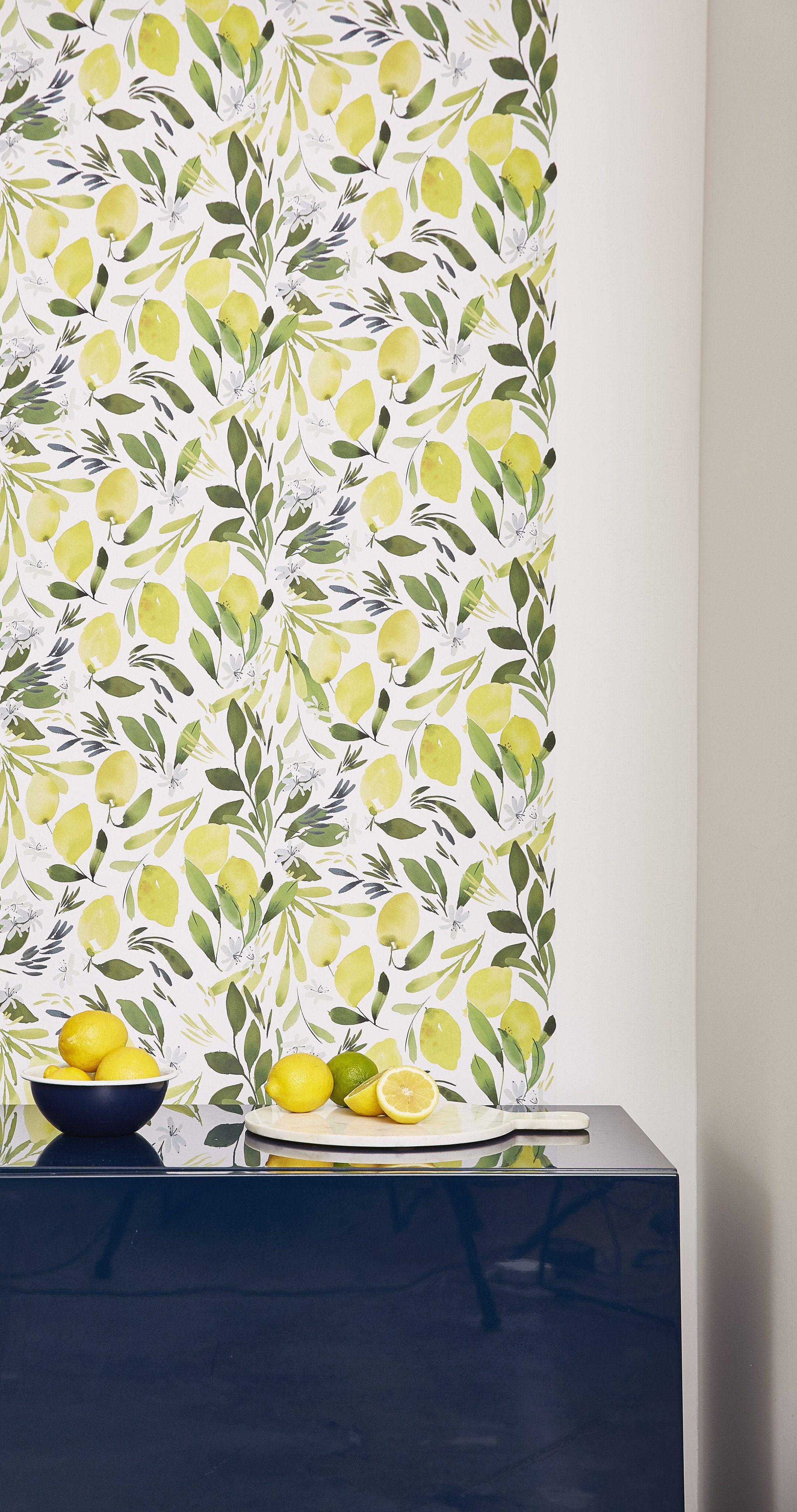 Lemon Fresh Chasing Paper Shop Wall Decor Chasing Paper Wallpaper