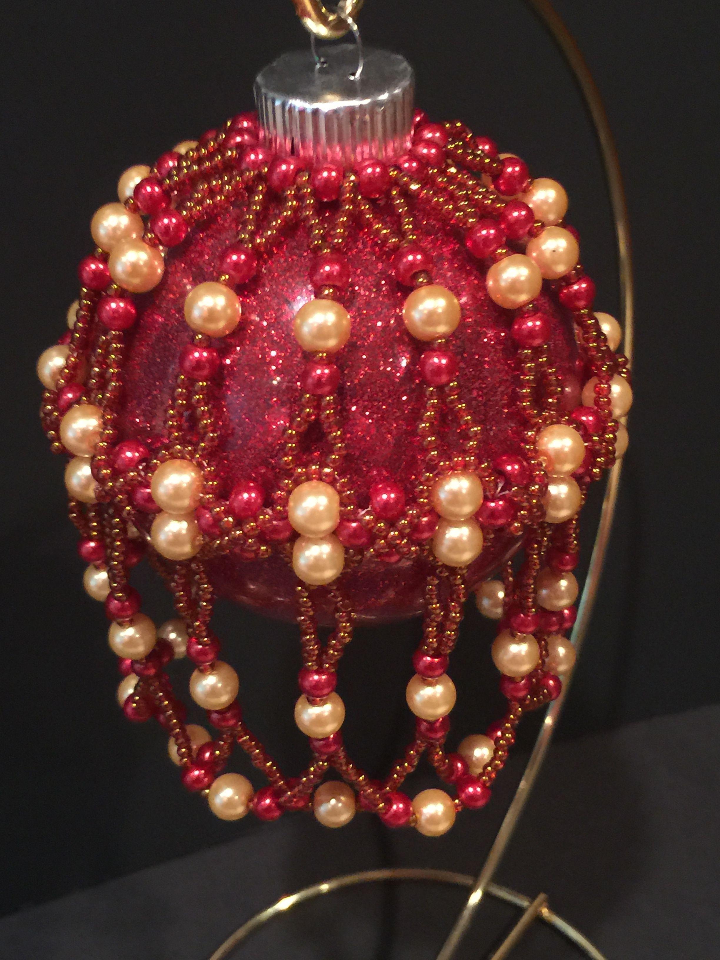 Crochet Ornaments, Beaded Christmas Ornaments, Diy Ornaments, Christmas Decorations, Christmas