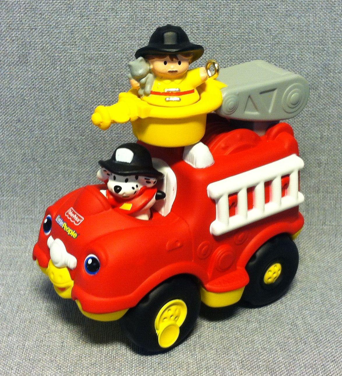 Little People - Lil' Movers Fire Truck - Hallmark - 2011