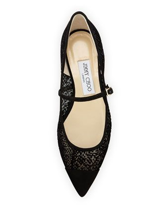 Jimmy Choo making a case for the perfect fall flat.