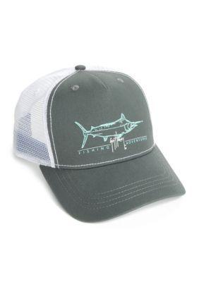 dbf04ea597d5e Guy Harvey Men s Tight Line Trucker Hat - Charcoal - One Size ...